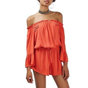 Top Shop Bell Sheeve Off the Shoulder Romper